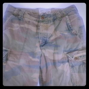 Hollister Cargo Shorts Camo Men Size 34